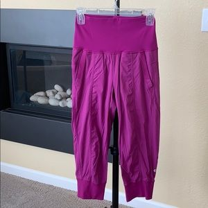 Lululemon cropped dance studio unlined pants
